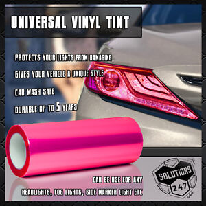 "Hot Pink Vinyl Film Smoke Tint Headlight Taillight Fog Light 12""x60"" / 1 x 5 FT"