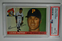 1955 Topps - Laurin Pepper - #147 - PSA 8 - NM-MT