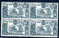Sellos de España 1905 nº 257 El Quijote Bloque de cuatro Alfonso XIII nuevo A1