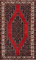 Vintage Geometric Oriental Area Rug Hand-knotted Wool Traditional 4x7 Red Carpet
