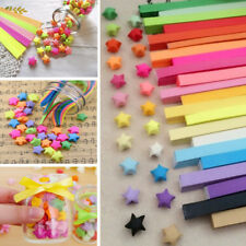 80pcs Funny Origami Lucky Star Paper Strips Folding Paper Ribbons Colors