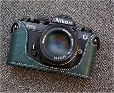 Genuine Leather Half Case for Nikon FM2, FM3A, FE, FE2 Green - BRAND NEW