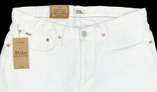 Men's POLO RALPH LAUREN White Jeans 36x30 NWT Hampton Relaxed Straight Stretch