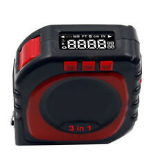 Laser Tape Measure 3-in-1 Digital Laser Measure Tape Rangefinder with LCD Digit