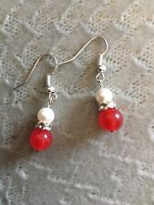 Brand new Tibetan silver earrings with   Ruby