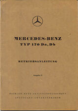 Mercedes Benz Type 170 D 1949-53 original German Betriebsanleitung Handbook