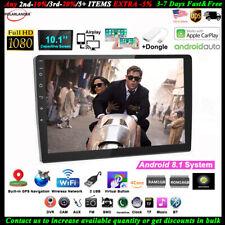 10''2 Din GPS Android Car Radio Airplay+Carplay Wifi BT iOS FM Siri Touch Screen