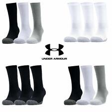 Under Armour Mens Womens Socks Crew 2020 HEATGEAR Tech Golf Sports Trainer Sock