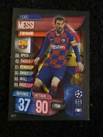 LIONEL MESSI 2019-20 TOPPS MATCH ATTAX UEFA CHAMPIONS LEAGUE #141 FC BARCELONA