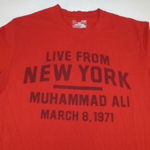 UNDER ARMOUR HEATGEAR LIVE FROM NEW YORK MUHAMMAD ALI BOXING TEE T SHRIT Sz S