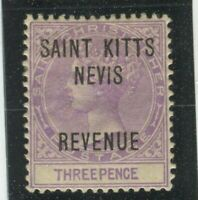 St Christopher Stamps Scott #AR4 MINT,H,VF, hinge thin (X7727N)