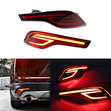 2Pcs Red LED Light Brake Light Rear Bumper Fog Lamp For 2017-2019 Honda CRV CR-V