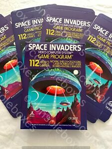 """Atari 2600 VCS """"Space Invaders"""" Cartridge EMPTY BOX ONLY New Superb"""