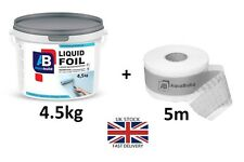 4.5kg + 5m Tape AQUA BUILD Waterproof Tanking Membrane + Tape, Wet Room, Shower