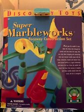 1997 Discovery Toys Super Marbleworks Marble Raceway Marble Run Set 49 Pieces