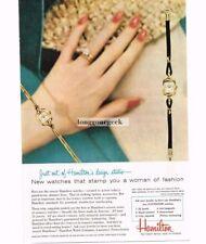 1956 Hamilton Women's Fashion Watches Ladies' Dress Tina Caprice Vtg Print Ad