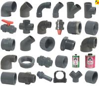 Immer 5 Stück-----PVC Fittinge,    20 mm - 63 mm,  Rohr, Kugelhahn,Winkel, Bogen