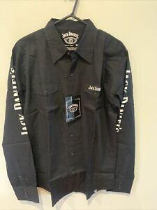 Jack Daniels Tennessee Whiskey Adult Long Sleeve Dress Shirt Size Medium