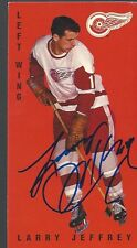 Detroit Red Wings LARRY JEFFREY Signed Card