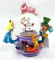 Disney Parks Alice in Wonderland Spinning Tea Cup Resin Snow Globe New in Box