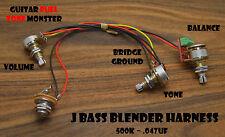 TONE MONSTER J Jazz Bass Blender Harness Balance Volume Tone 500K .047uf MIK