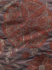 Red Orange Multicolor Floral Chenille Upholstery Fabric (54 in.) Sold Bty