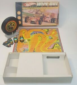 Vintage Hot Wheels Wipe-Out Race Game by Mattel 1968 Complete