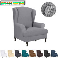 Armchair Wing Chair Wing Back Cover Stretch Protector Slip Cover Home Decoration