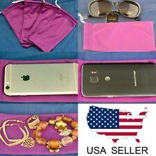 4 Purple Sunglasses Eyeglasses Jewelry Cell Phone Case Bag Soft Microfiber Soft