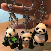 Cartoon Panda Bear Animal Pendant Handbag Purse Charm Key Chain Ring Keychain