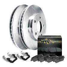 Fits 1999-2000 Mazda Protege Front Blank Brake Rotors+Ceramic Brake Pads