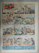 Batman Sunday #12 by Bob Kane from 1/23/1945 Size: 11 x 15 inches First Year !