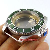 43mm sapphire glass Screwdown Crown Watch Case fit ETA 2824 2836 MOVEMENT C48
