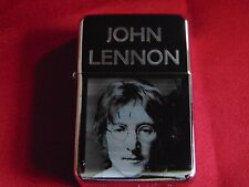 John Lennon Engraved / Impact Printed Fuel STAR Lighter With Gift Box
