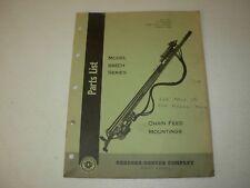 Gardner Denver RMEH Series Chain Feed Mountings Parts Manual