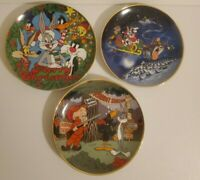 Warner Bros 1990's Looney Tunes Collector's Plate Lot of 3 Limited Edition