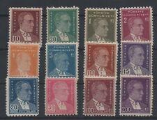 1950/51 TURKEY 5th ATATÜRK REGULAR POSTAGE STAMPS COMPLETE SET MNH** LUX