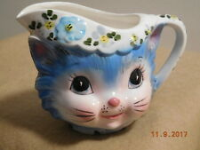 Vintage 1950-60s Lefton Miss Priss Kitty Cat Creamer 1508 w Foil Tag