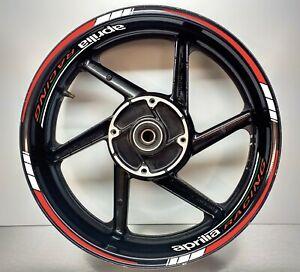 Aprilia Racing REFLECTIVE Red & REFLECTIVE White, Wheel Rims 025/055