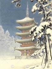 CULTURAL LANDSCAPE JAPAN PAGODA NINNAJI Kawase Hasui POSTER ART PRINT BB789B