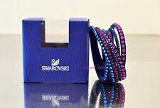 Swarovsk Slake Deluxe Dark Blue Magenta Bracelet 5194200 Auth Brand New In Box
