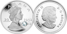 2012 RCM THE QUEEN'S DIAMOND JUBILEE $20 FINE SILVER COIN
