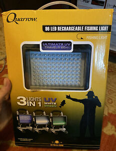 Quarrow 96 LED Rechargeable Fishing Light Green White UV Bulbs #6206