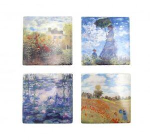 4pc Monet Ceramic Coasters Set Coasters Ceremic Chinaware XMAS Gift