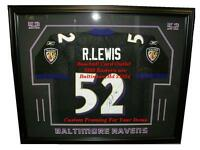 Ray Lewis Baltimore Ravens Custom Display Case Frame For Your Autographed Jersey