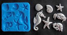Silicone Mould SEA WITH SEAHORSE Sugarcraft Cake Decorating Fondant / fimo mold