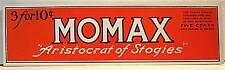 Momax Aristocrat Of Stogies Cigar Label Old Stock