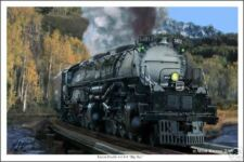 Union Pacific Big Boy Railroad Art Print