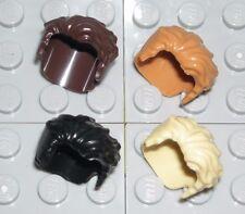 LEGO 4 Miniifgure Hair Short Male Swept Left Black/Brunette/Blonde/Red Head