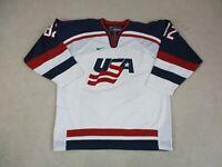 Nike USA Hockey Jersey Adult 2XL XXL White Blue United States Olympics NHL Mens